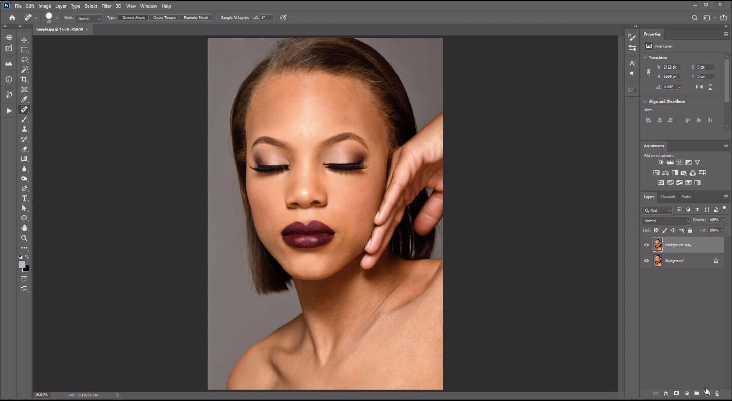 how to smoothen skin in photoshop