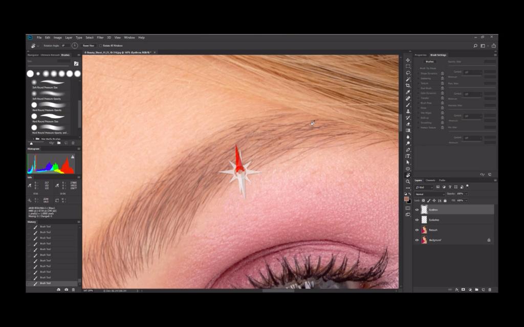 beauty photo retouching