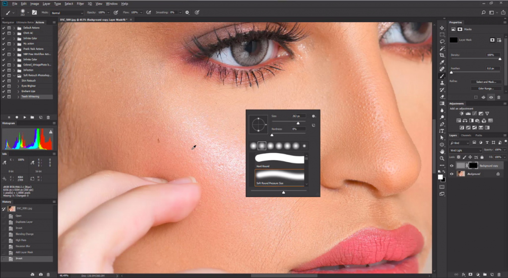 high-end retouching