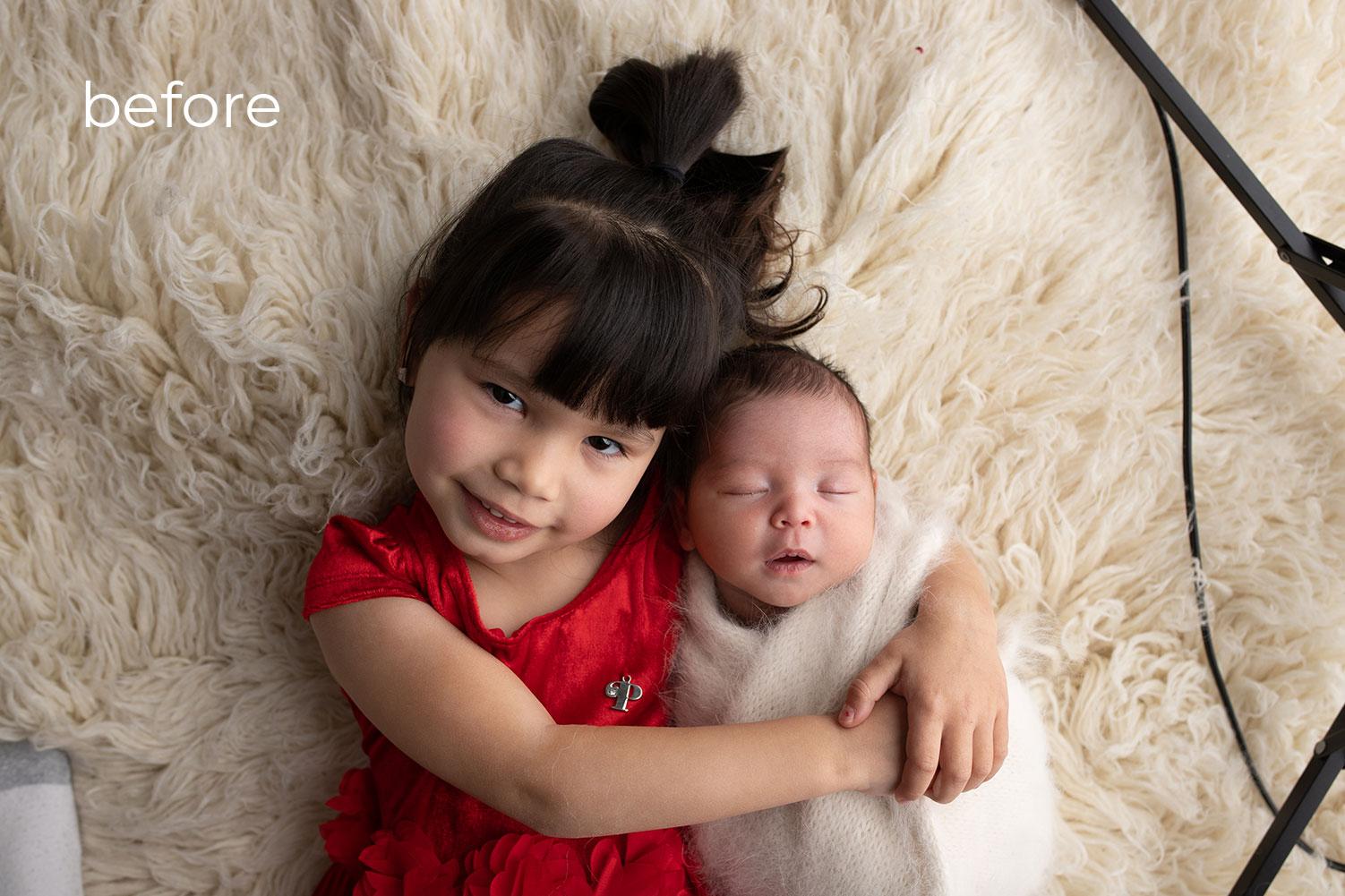 Newborn Photo Retouching Services before