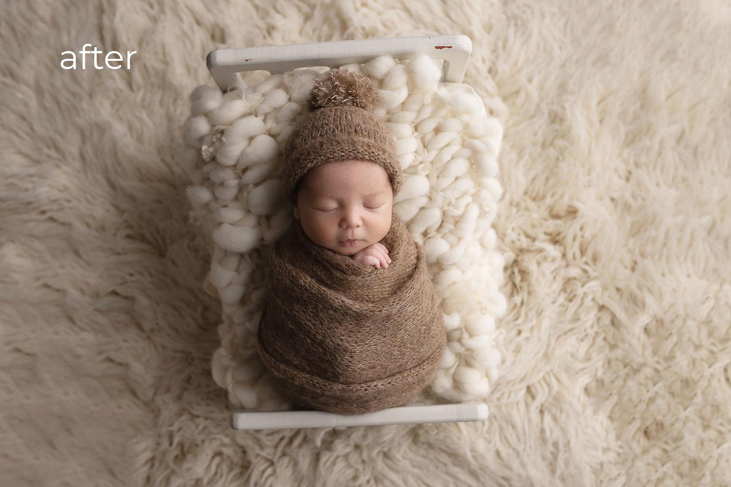 Newborn Photo Retouching after