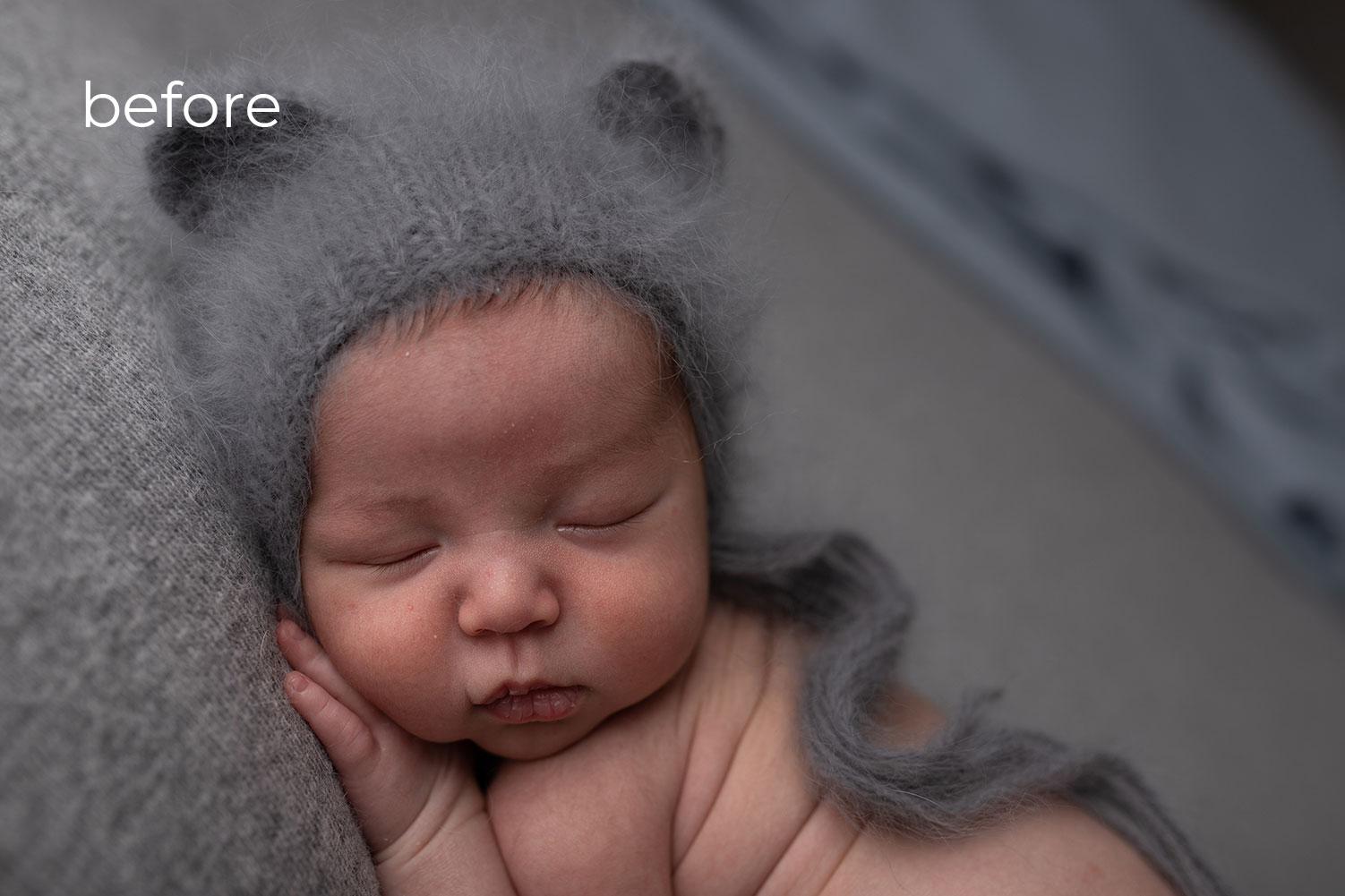 baby Photo Retouching before