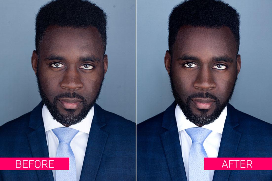 Advanced Headshot Photo Retouching Service