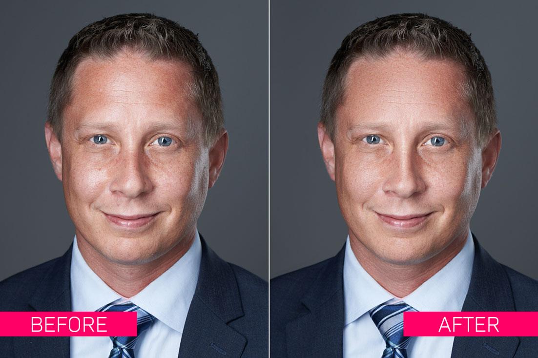 Basic Headshot Photo Retouching Service