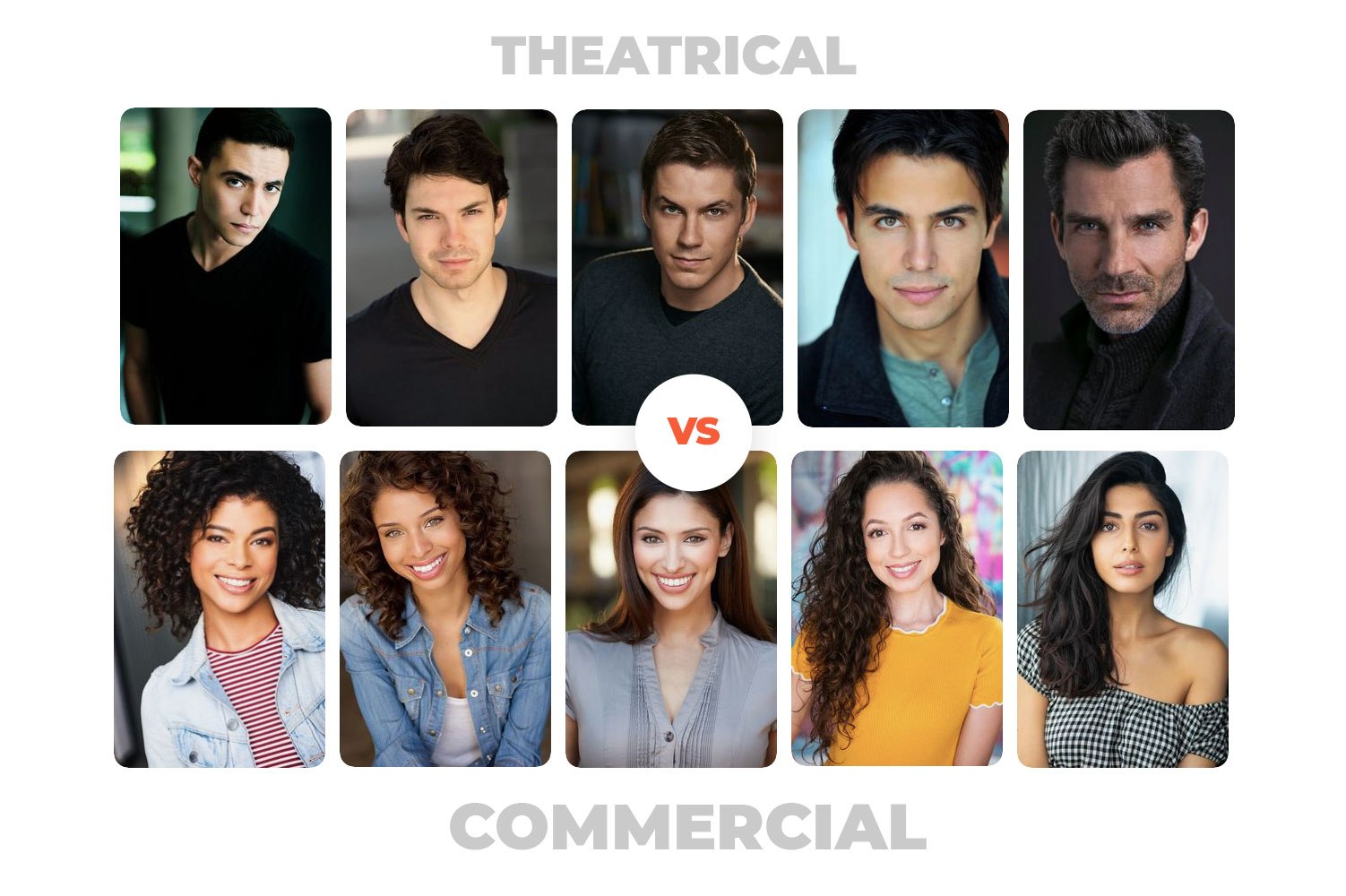 Commercial vs. Theatrical-Headshots