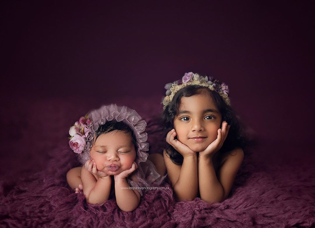 Newborn Photography - Sibling Pose