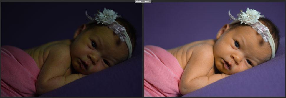 newborn photos retouching
