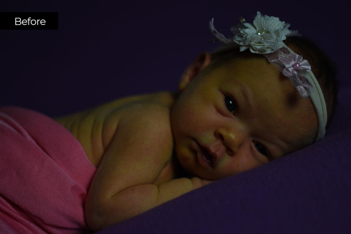Newborn Retouching Before