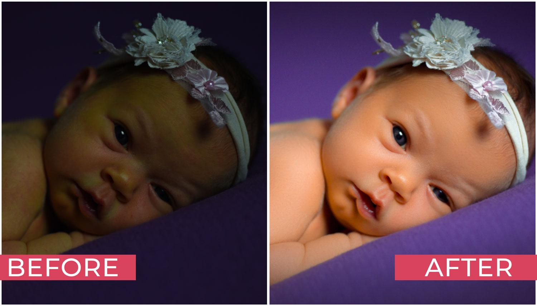 Retouching Newborn Photos