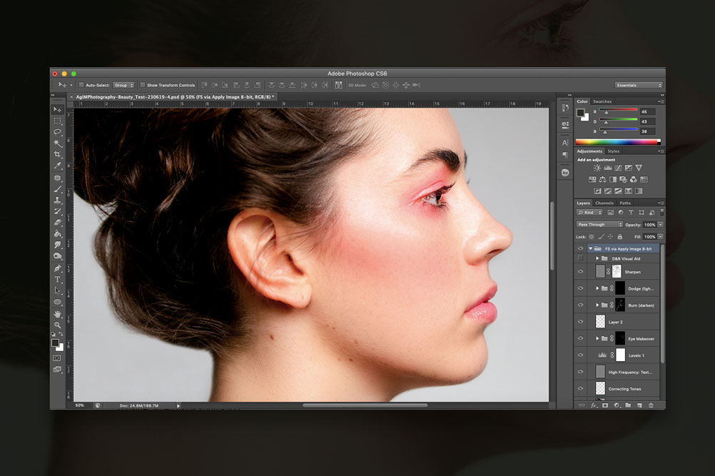 Photoshop Guideline Retouching Photo