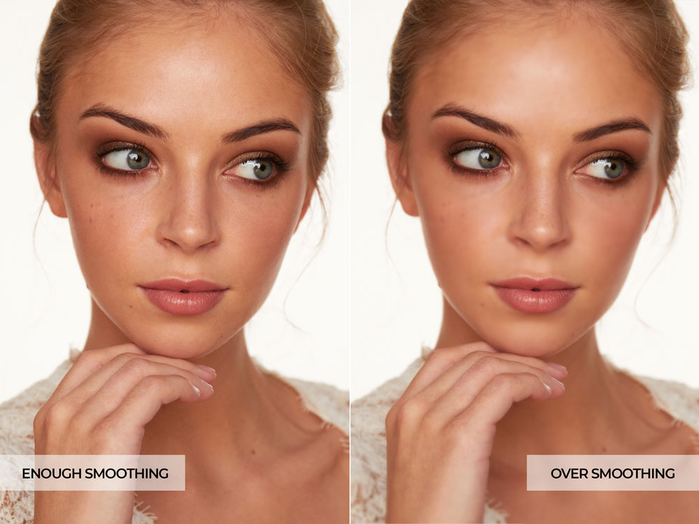 Photo Retouching Mistakes - Over Skin Smoothing